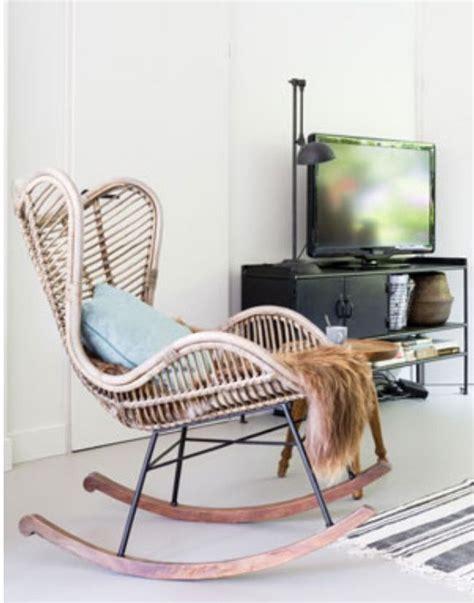 schommelstoel berger rieten schommelstoel van het kabinet rockingchair