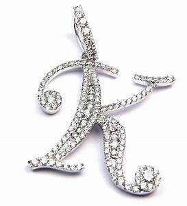 Diamond letter quotkquot pendant deville fine jewelry and diamonds for Diamond letter k pendant
