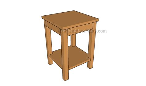 wood side table plans how to build simple wood end table quick woodworking