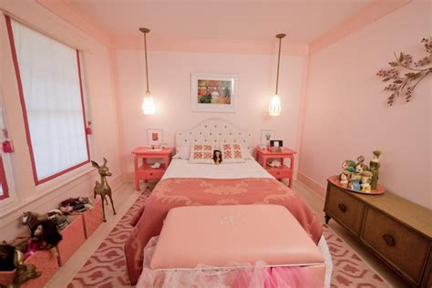 pink girly bedrooms girly retro inspired pink bedroom hgtv 12869 | 1400974560214