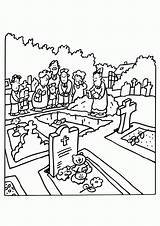 Funeral Coloring Previous sketch template