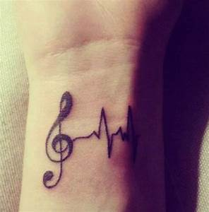 Pretty music tattoo (5) - music wrist tattoo on ...