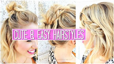 3 Easy Hairstyles for SHORT / Medium Hair Tutorial Cute