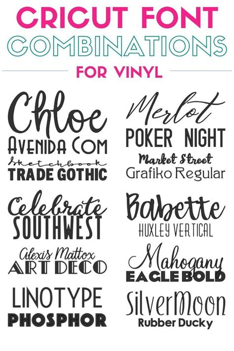 top   cricut fonts combinations  vinyl