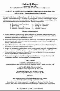 automotive mechanic resume example sample With auto resume maker