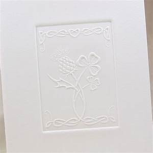 maybe without the shamrock though what do you think With celtic embossed wedding invitations