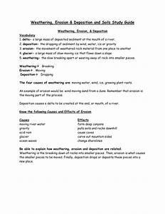 Soil  Weathering  Erosion  Deposition Study Guide