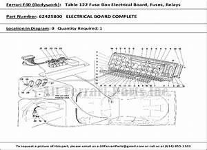 Ferrari Part Number 62425800 Electrical Board Complete