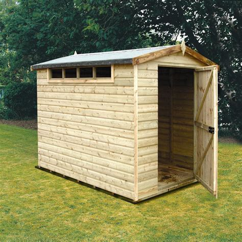 Shiplap Cladding B Q by 10x8 Security Cabin Apex Shiplap Wooden Shed With Assembly