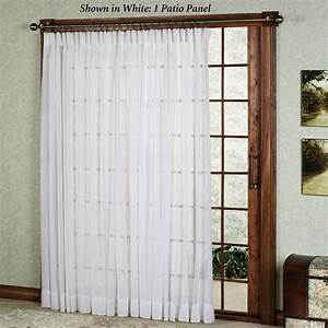 Patio door curtain ideas homesfeed for Patio door curtain