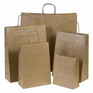 Brown Paper Gift Carrier Bags with Twisted Handles *Choose ...