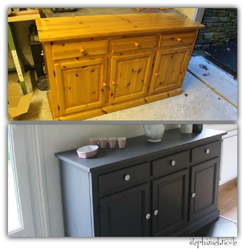 meuble de cuisine repeint déco récup un bahut relooké devenu plan de travail