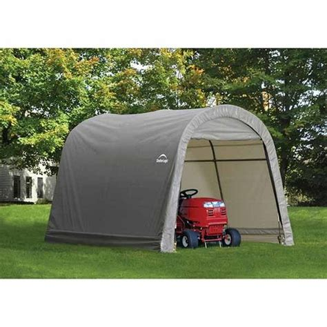 Shelterlogic Shed In A Box Round Top by Shed In A Box 10 X 10 X 8 Roundtop Style Gray
