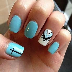 Cross with American Indian inspired nail art   want ...