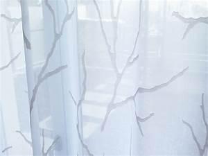 Zweige Weiß Ansprühen : tagvorhang oslo ste zweige baum weiss weiss und weiss beige ~ Orissabook.com Haus und Dekorationen