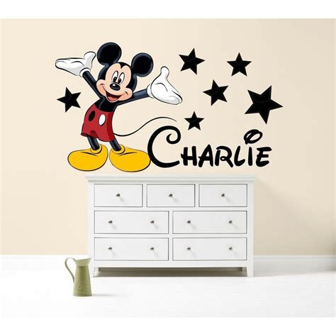 chambre mickey mouse mickey mouse couleur sticker mural personnalisé chambre de