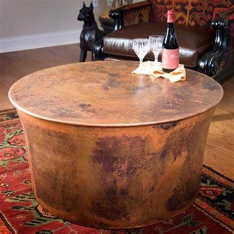 jatex copper     drum coffee table