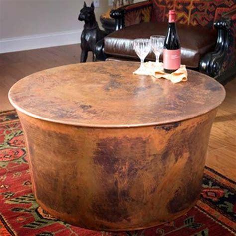 "Jatex Copper 36"" x 18"" Round Drum Coffee Table   22314"