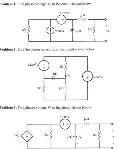 Solved Find Phasor Voltage The Circuit Shown Below