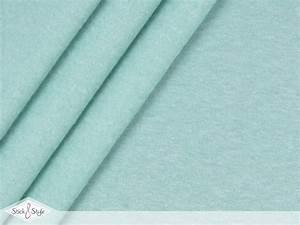 Sweat Stoff Meterware : sweat stoff uni mint meliert kuschelweich stoffe und meterware g nstig online ~ Watch28wear.com Haus und Dekorationen
