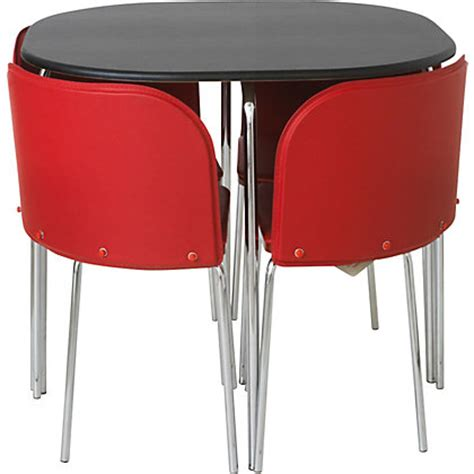 black table red chairs hygena amparo black dining table and 4 red chairs