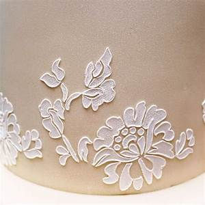 lace templates for cakes - floral lace stencil