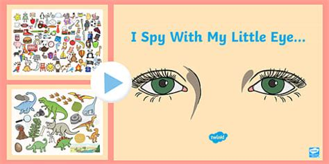 I Spy With My Little Eye Powerpoint  Class Games, Group Games