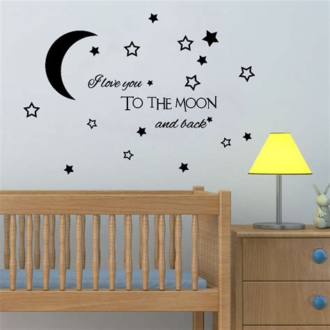 The cutest nursery wall decor for $50 or less. Lovely Baby Nursery Clouds Stars Wall Sticker Moon Cloud Wall Decal Kids Room Decor Easy Wall ...