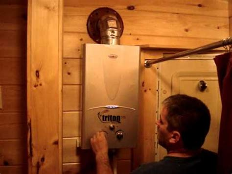 triton camping chef portable hot water heater installation
