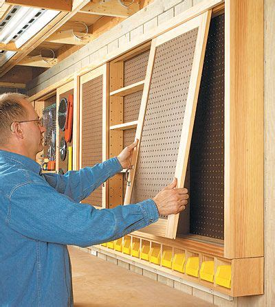 sliding door pegboard cabinet woodworking plan