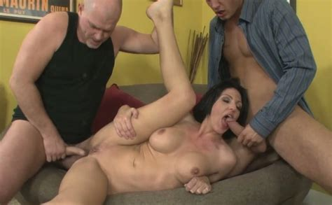 Hot Lady Roxanne Hall Fucks Mark Davis And Danny Mountain
