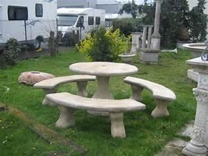 Salon De Jardin En Pierre : salon de jardin en pierre brisure de marbre ~ Teatrodelosmanantiales.com Idées de Décoration