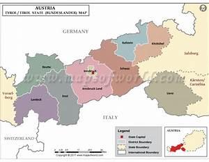 Buy Tyrol Map online Tirol State Map