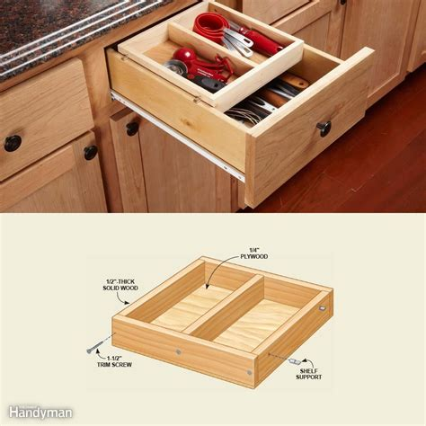 Sliding Drawers For Cabinets by 10 Kitchen Cabinet Drawer Organizers You Can Build