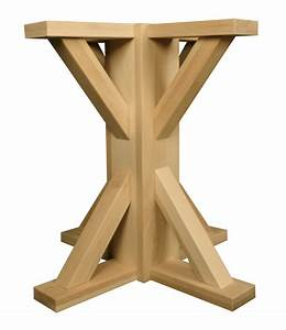 Unfinished Wood Pedestal Table Base - Gul