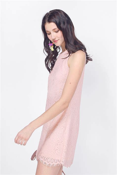 fayth freya lace shift dress