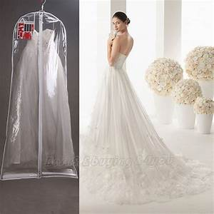 1x clear wedding dress cover storage bags dustproof large With cover for wedding dress