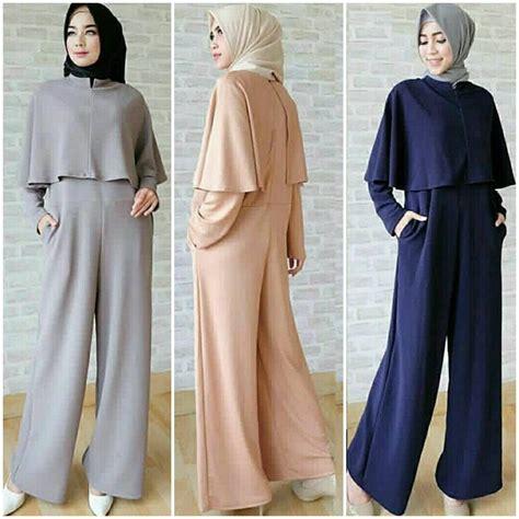 Dwina Cape Dress Baju Murah busana muslim modern jumpsuit cape grosir baju muslim