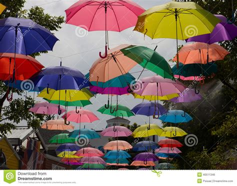 colorful patio umbrellas colorful umbrella stock photo image 40511346