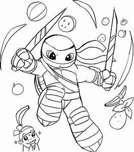 Ninja Turtles Nickelodeon Coloring Pages Mutant Leonardo