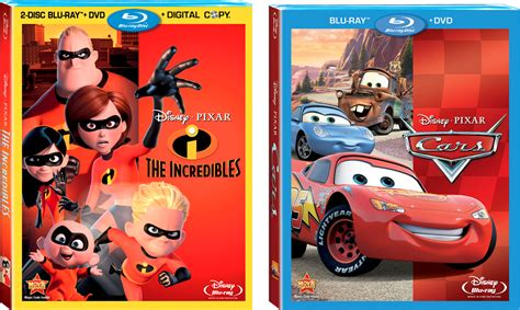 'cars' & 'the Incredibles' Now Available On