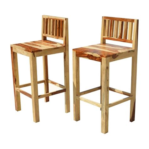 Wooden Bar Chairs With Backs by Dallas Ranch Solid Wood Counter Low Back Bar Chairs