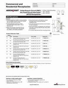 Cooper Wiring Afci Receptacle Spec Sheet