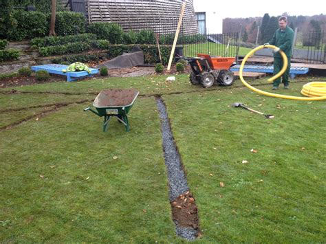 back yard drainage dorset garden drainage solutions pmb landscapes in whitchurch pipe laying commercial the
