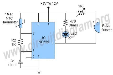 Heat Temperature Sensor Alarm Circuit Diagram