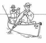 Canoe Coloring Canoeing Drawings Designlooter Fishing 853px 39kb Outfitters sketch template