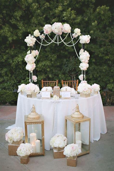 Sweetheart Table Inspiration Sweetheart Table Wedding
