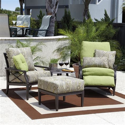 woodard andover cushion 4 patio seating set wd