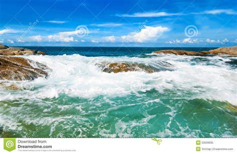 Beautiful Tropical Seascape Rocky Seacoastphuket Island