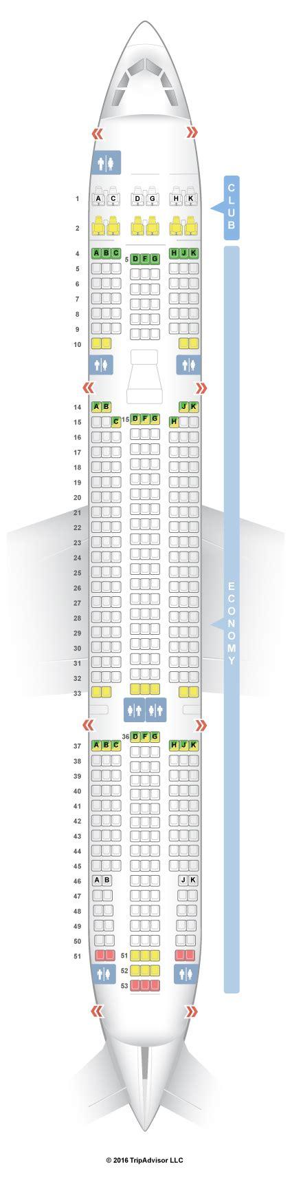 air transat selection siege seatguru seat map air transat airbus a330 300 333 v1